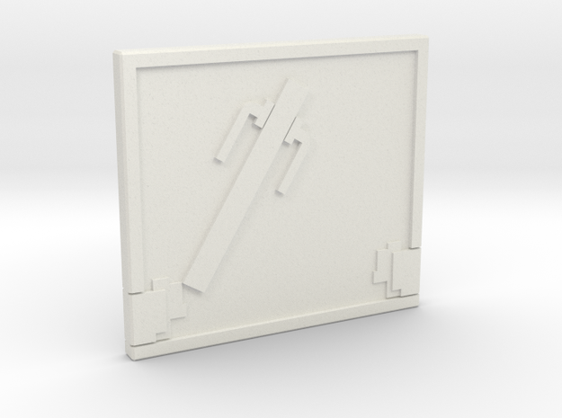 Door in White Natural Versatile Plastic