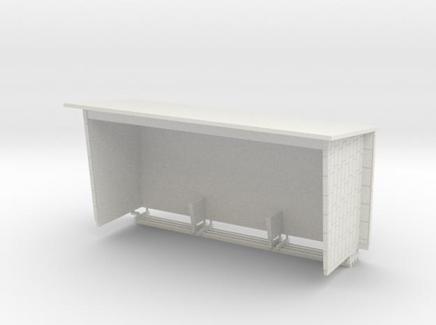 Wartehaus aus Betonfertigteilen, DDR, 1:45 in White Natural Versatile Plastic