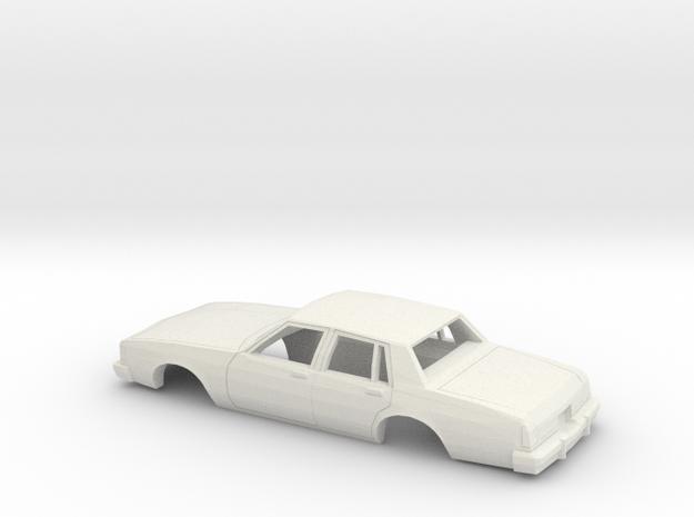 1/25 1985 Oldsmobile 88 Sedan Shell in White Natural Versatile Plastic