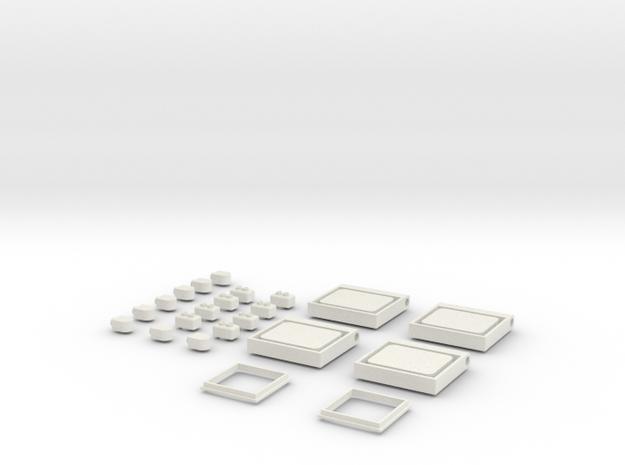 Conjunt detalls 440R in White Natural Versatile Plastic