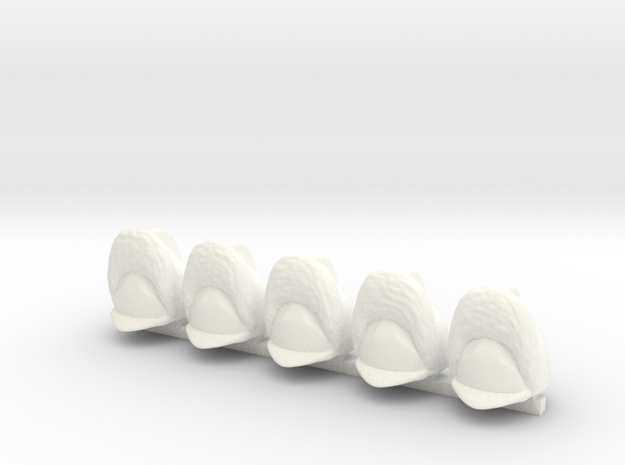 5 x Wuerttemberg Grenadier in White Processed Versatile Plastic