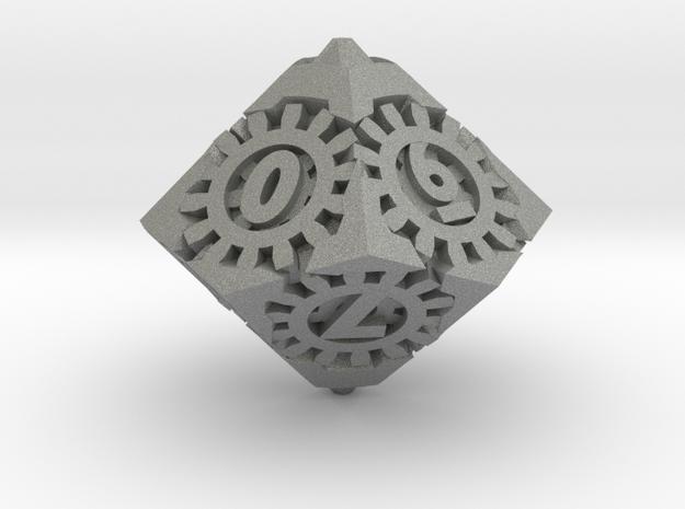 Steampunk D10 in Gray PA12: d10