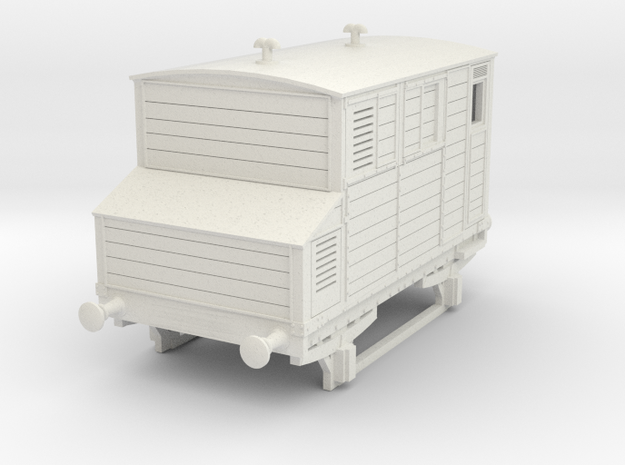 o-100-mgwr-horsebox in White Natural Versatile Plastic