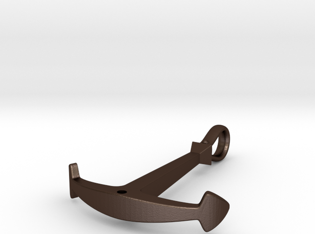 Anchor Necklace - Flat 3d printed