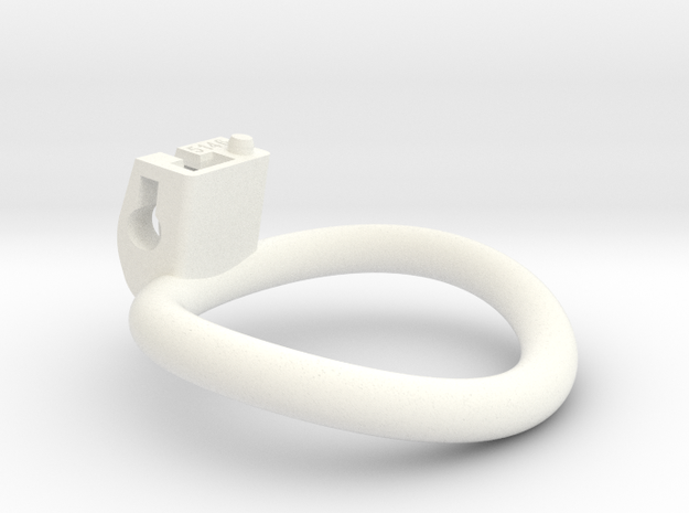 Cherry Keeper Ring - Wide Oval - Multiple Sizes in White Processed Versatile Plastic: Extra Large