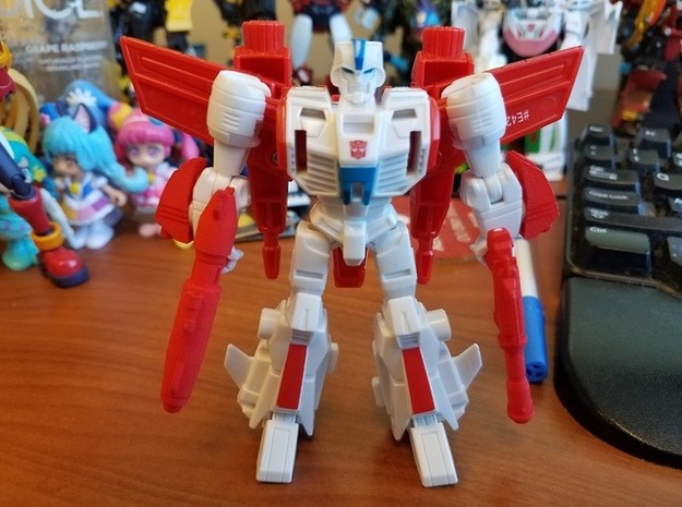 Battle Class Jetfire Addons in Red Processed Versatile Plastic
