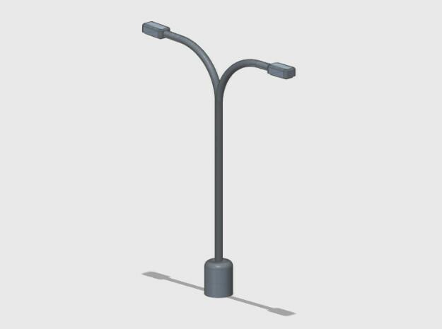Parking Lot Light Standard in White Natural Versatile Plastic: 1:87 - HO