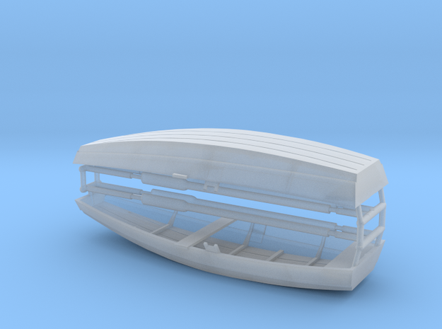 Two H0 rowing boats with oars in Smooth Fine Detail Plastic