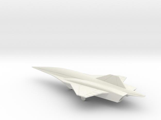 Lockheed Martin SR-72 UAV (w/Landing Gear) in White Natural Versatile Plastic
