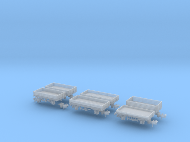 Southern open wagons in Smoothest Fine Detail Plastic
