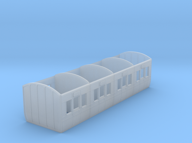 GWR 6 wheel 4 compartment first carriage diagram R in Smooth Fine Detail Plastic