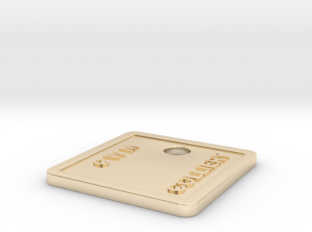CWM TAG in 14K Yellow Gold