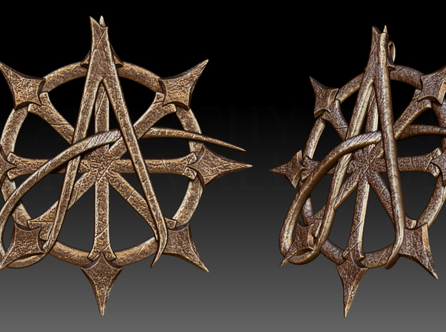 Anarchy Star pendant in Matte Bronze Steel