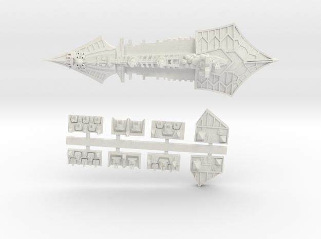 Khorne_8_cruiser in White Natural Versatile Plastic