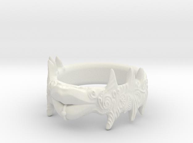 """Beso Del Oro"" Lip ring in White Natural Versatile Plastic"