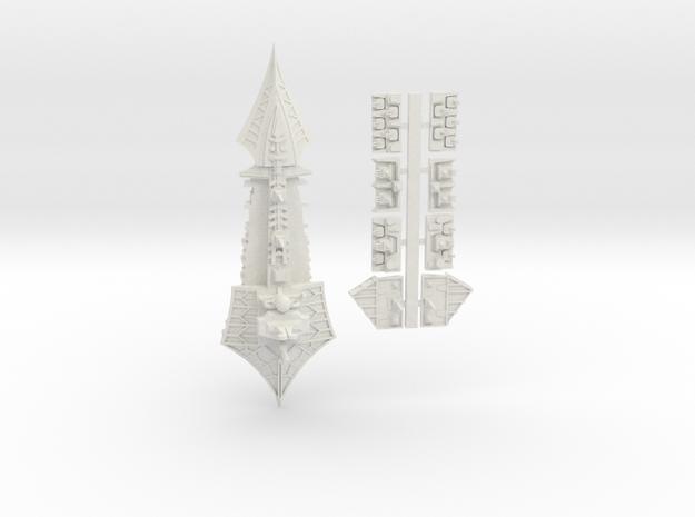 Tzeechen_4_cruiser in White Natural Versatile Plastic