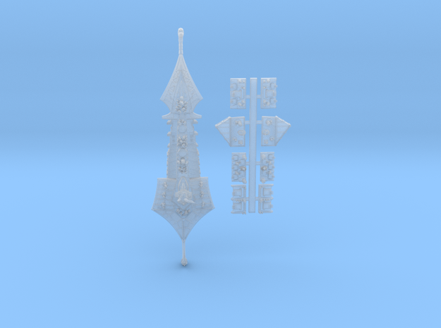 Slaanesh_5_cruiser in Smooth Fine Detail Plastic