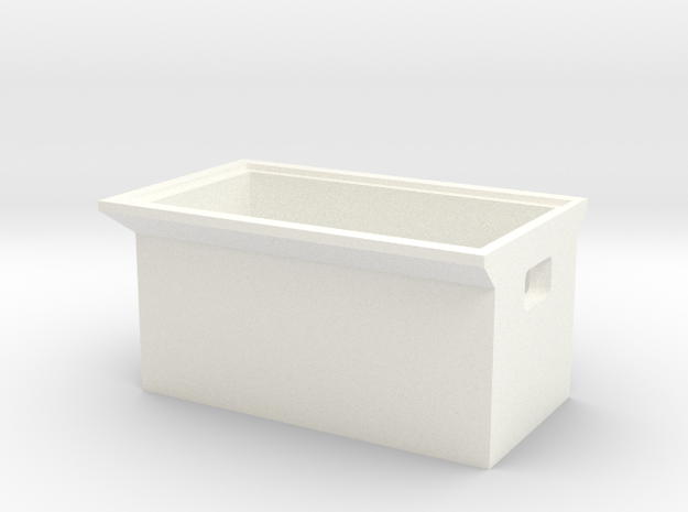 Receiver Mount Box for Waterland Scale Boats F1 RC in White Processed Versatile Plastic