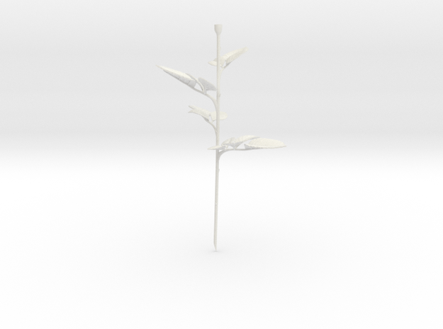 Rose Stem Leafs in White Strong & Flexible
