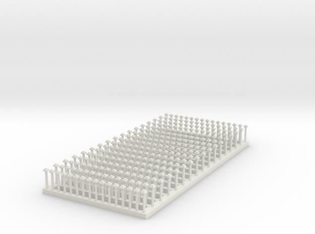 "7mm 272 X 1.5"" sq nut/bolt 3"" sq washers in White Natural Versatile Plastic"