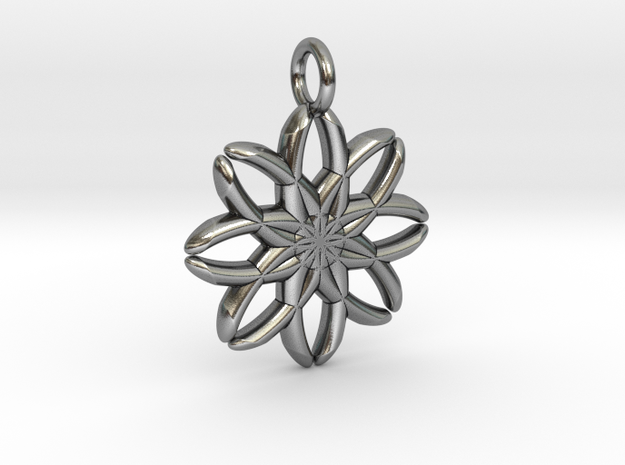 Snowflake in Antique Silver