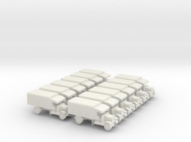 WWI Truck x12 in White Natural Versatile Plastic