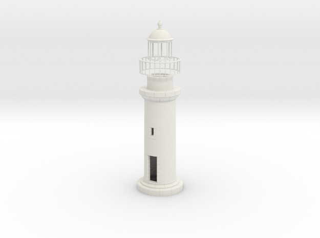 Opb10 - Small brittany lighthouse in White Natural Versatile Plastic