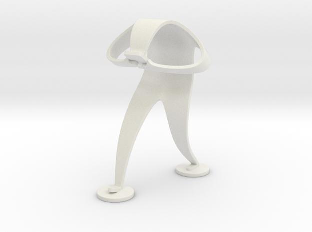 Mobile Madman in White Natural Versatile Plastic