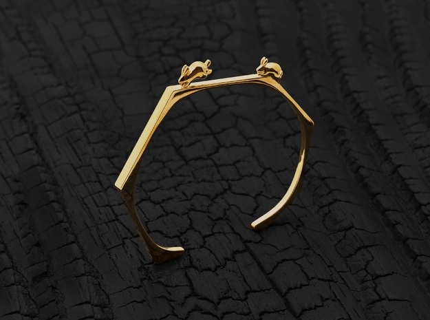 Chasing Rabbits Cuff (Gold)