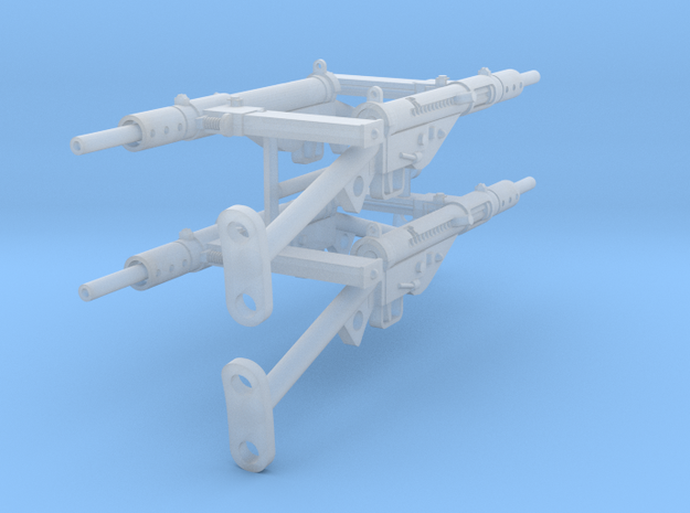 1:18 Sten Mk.II - T Stock x4 in Smooth Fine Detail Plastic