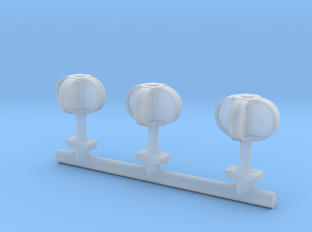 Egg-beater antenna - 1/72 scale in Smooth Fine Detail Plastic