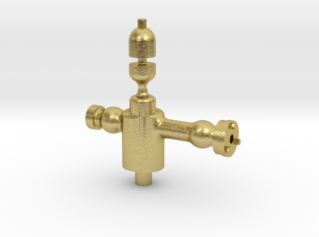 OSQ003 Adamson Loco Steam Turret & Whistle, 16mm S in Natural Brass