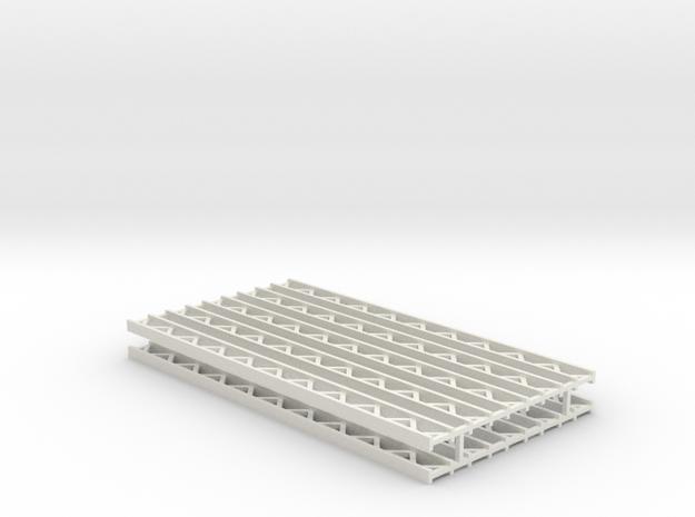 Zirkuszeltmast 70mm 10erSet - 1:120 - TT in White Natural Versatile Plastic