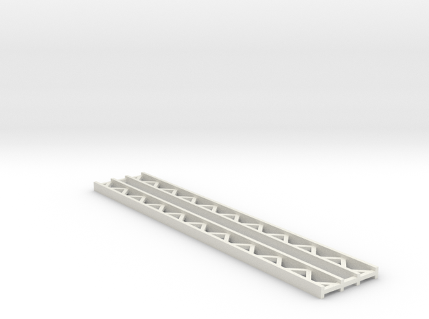 Zirkuszeltmast 70mm 2erSet - 1:120 - TT in White Natural Versatile Plastic