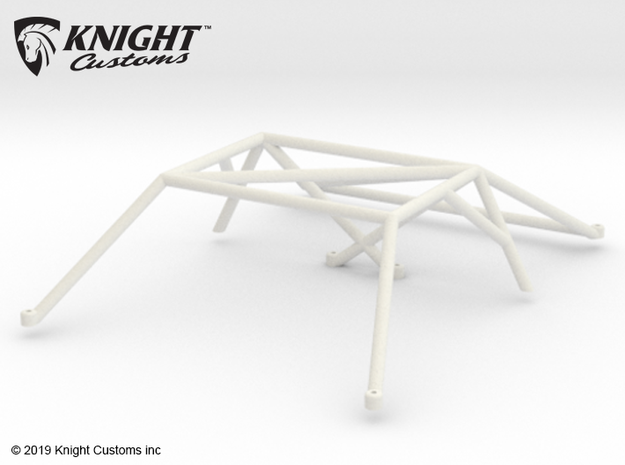 KCLD005 Delta Roll cage in White Natural Versatile Plastic
