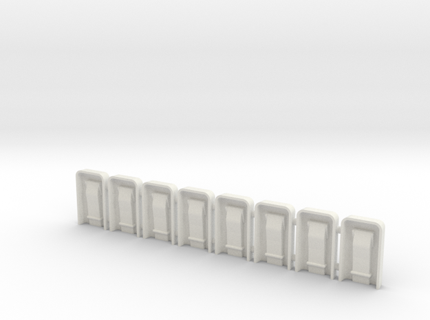 EC135 Door Hardware 1/8 (8) in White Natural Versatile Plastic