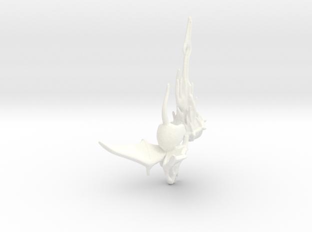 Winged Rat with Plague Censer 2 in White Processed Versatile Plastic
