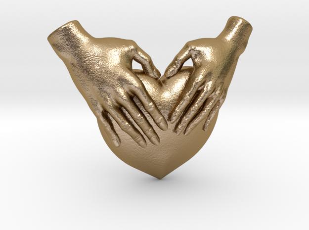 EmeDeÚ Necklace 3d printed Polished Gold Steel