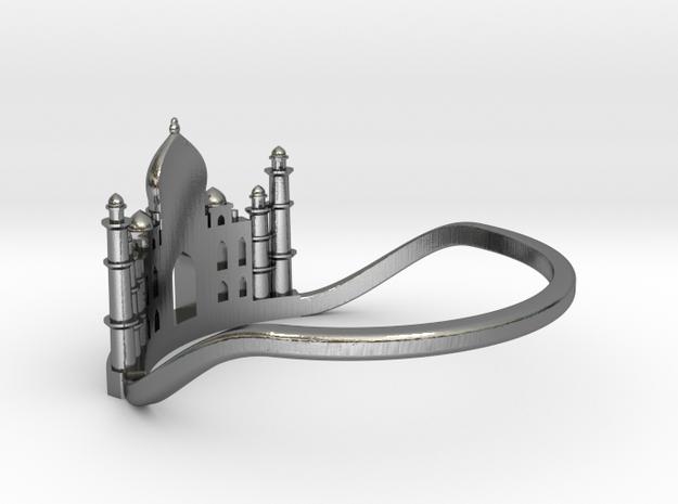 Taj Mahal Ring in Polished Silver: 6 / 51.5