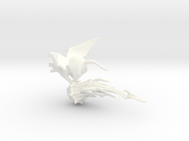 Winged Rat with Plague Censer 1 in White Processed Versatile Plastic