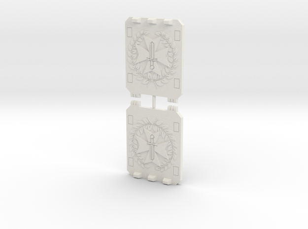 Sword Templar Light Vehicle Doors Command Style in White Natural Versatile Plastic
