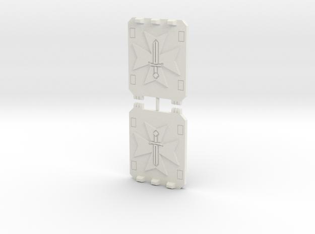 Sword Templar Light Vehicle Doors in White Natural Versatile Plastic