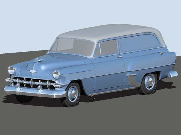 1954 Chevy Sedan Delivery 210 (2) N Scale Vehicles in Smooth Fine Detail Plastic