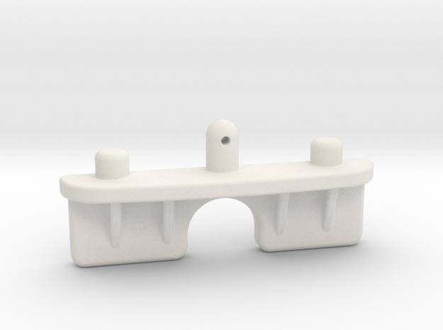 Tamiya ta01 ta02 battery holder in White Natural Versatile Plastic