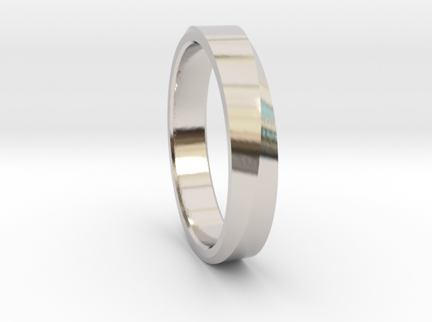Surface Twist Ring in Rhodium Plated Brass: 8 / 56.75