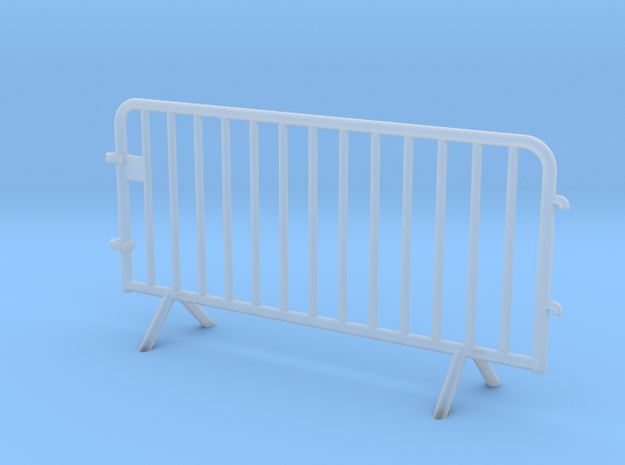 OviMob01 - Metallic police barrier in Smoothest Fine Detail Plastic