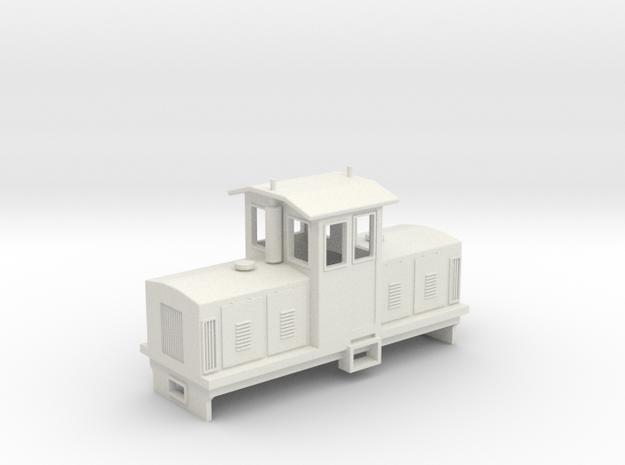 "OO9 Centrecab Locomotive 2 (""Joanna"") in White Natural Versatile Plastic"