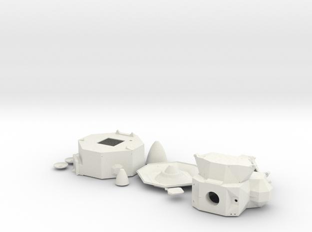 Vesrsatile Plastic Parts in White Natural Versatile Plastic