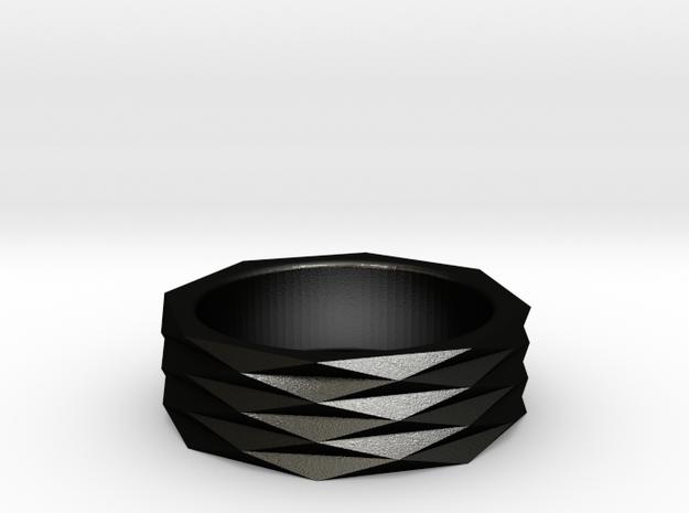 Origami Ring 'H' 3d printed