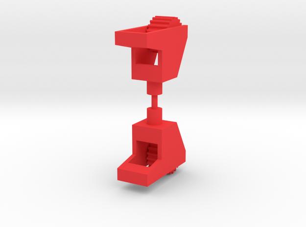 Saucer UFO Wheel in Red Processed Versatile Plastic: Medium